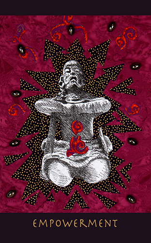 Belinda Gore original collage of Empowerment ritual posture.